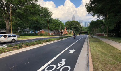 Cars keep blocking Uptown bike lane in Charlotte's newest culture clash