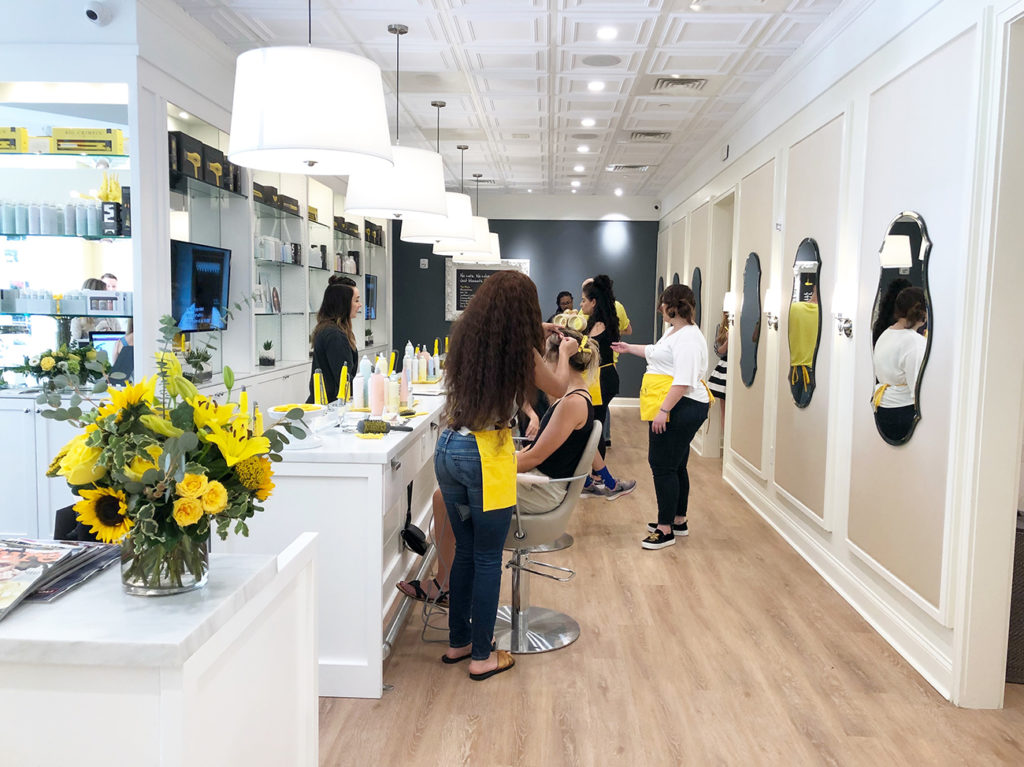 I challenged Charlotte's new Drybar to blow out my very curly hair on a humid day. Here's how it went