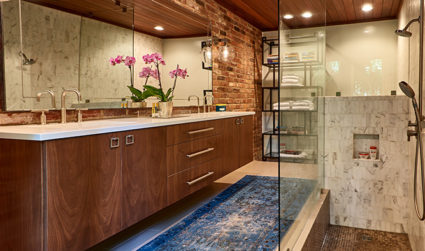 Mid-century modern stunner with tons of exposed brick in Old Foxcroft / 4bd,3.5ba / $1,100,000