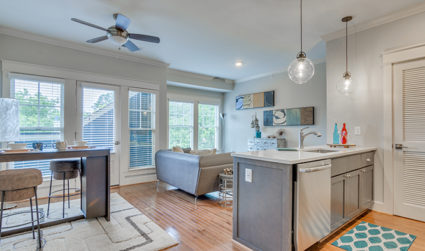 Custom design in a charming Dilworth location at 525 East / 1-2bd / $1,380-$2,575