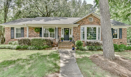 Brick ranch with big remodeled kitchen
