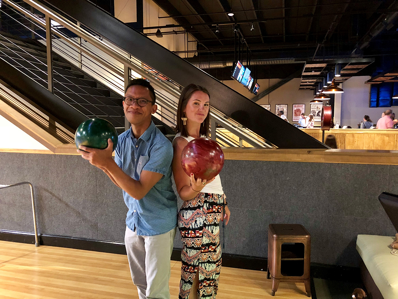 Blind Date: Alison and Emmanuel, who moonlights as a low-key bowling pro