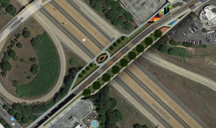 Here's what a Rail Trail bridge over I-277 could look like...