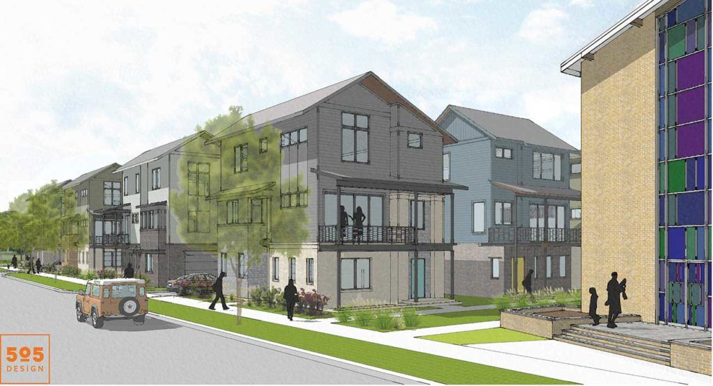 New NoDa development calls for $500,000 houses, affordable townhomes and preserving a historic church