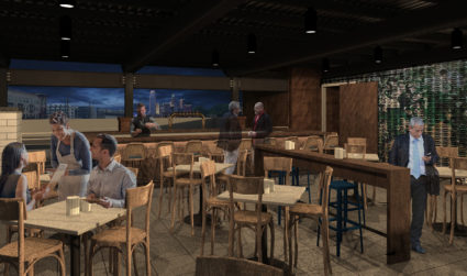 Here's what the rooftop oyster bar at The Waterman will look...