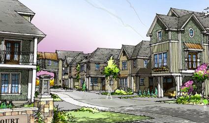 Luxury townhomes at Rea Court