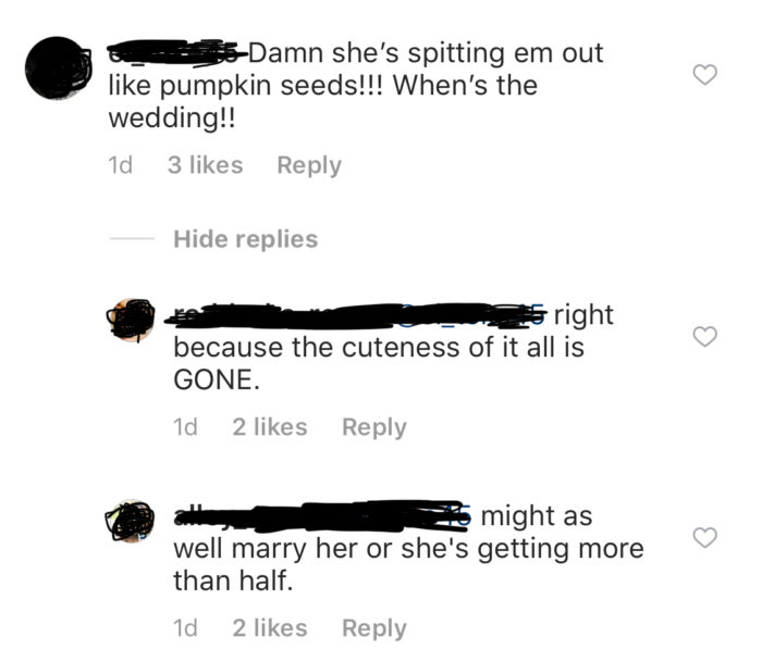 Cam Newton Kia Stevens Instagram Comments 4