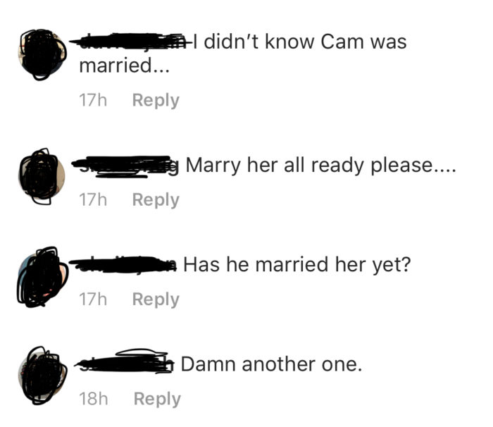 Cam Newton Kia Stevens Instagram Comments 3
