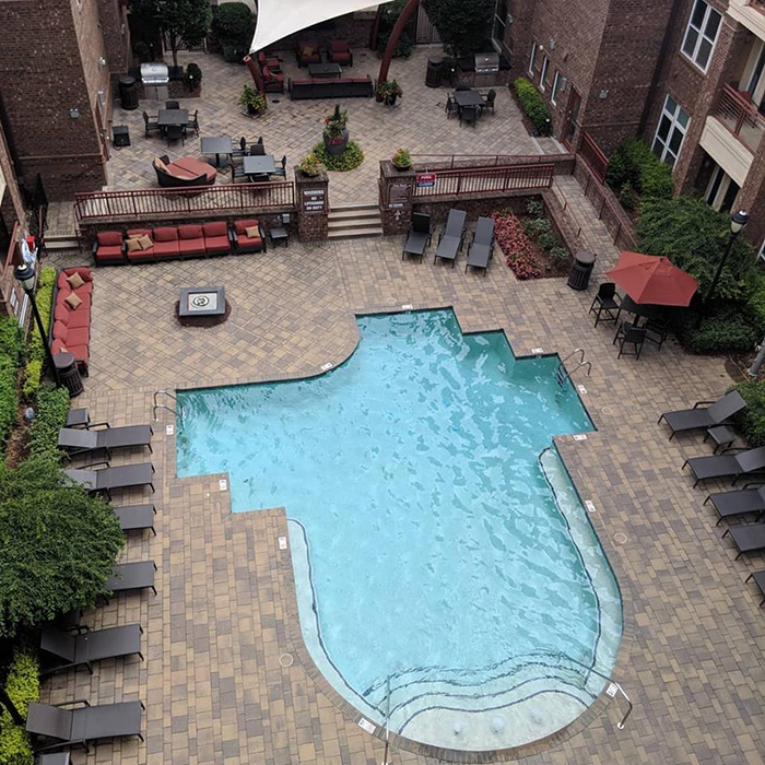 metro 808 pool in plaza midwood charlotte