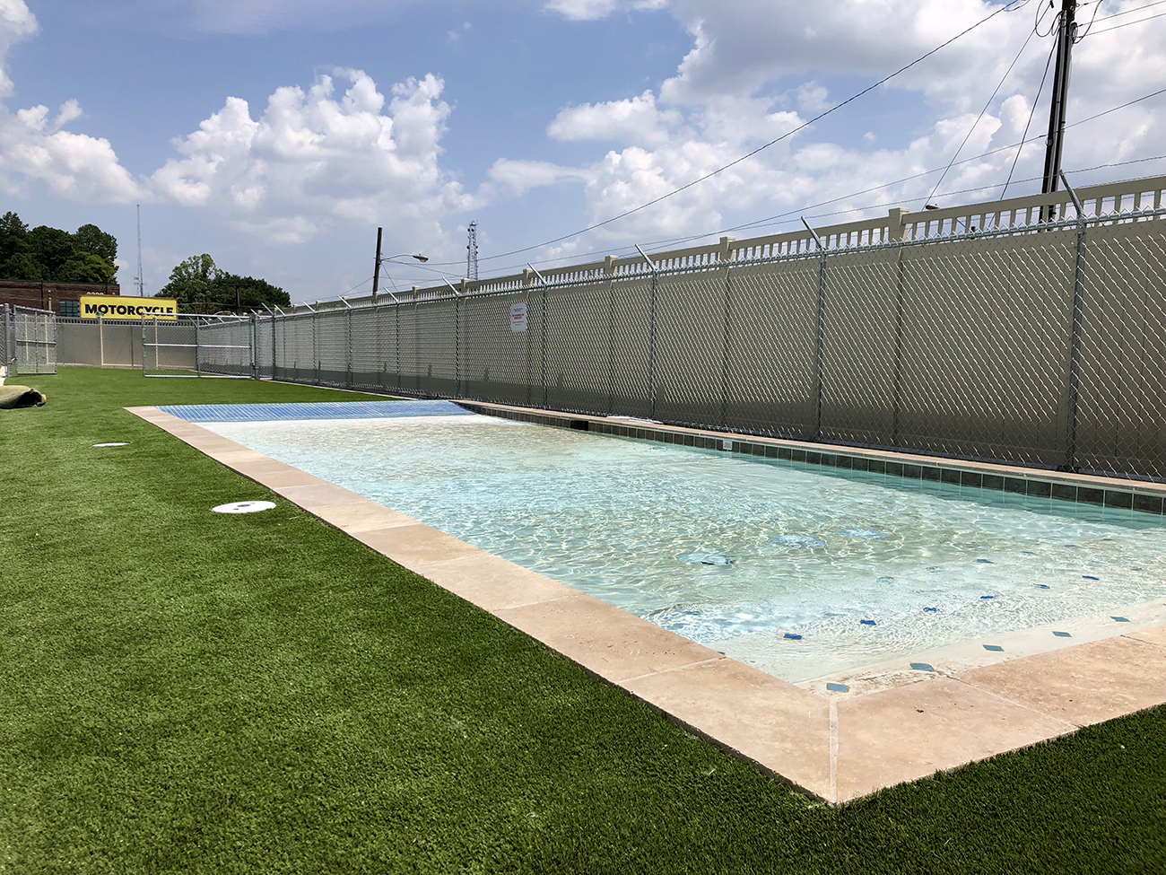 16 000 square foot pet boarding facility with an outdoor for Average square footage of a swimming pool