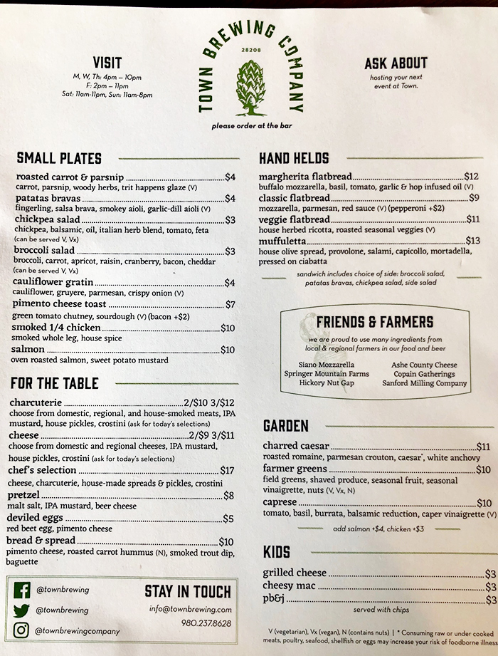 food-menu-at-town-brewing-charlotte