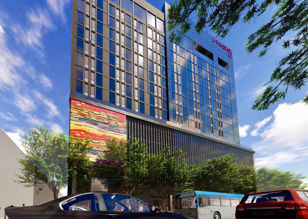 View renderings: Details on Charlotte's Moxy Hotel, the new party brand from Marriott coming in Uptown