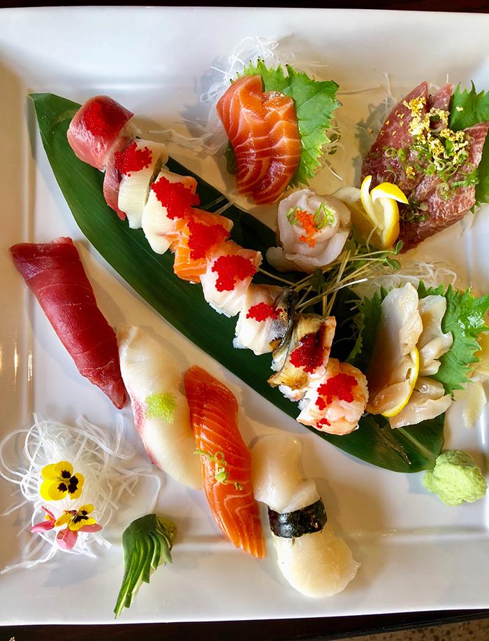 sushi-platter-at-yume-restaurant-charlotte