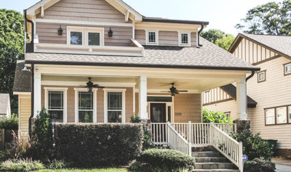Custom built with great front porch