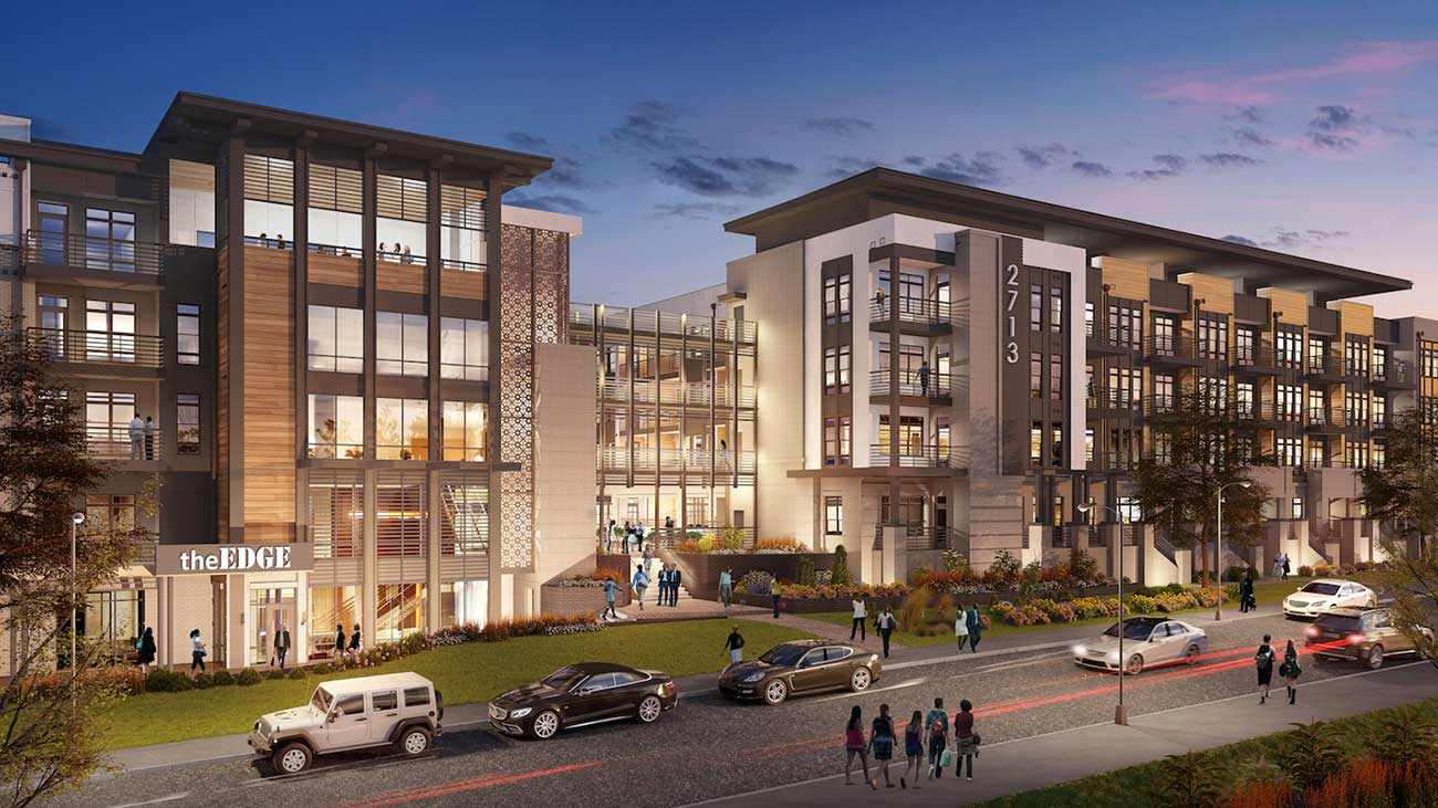 New luxury apartments under construction in Sedgefield