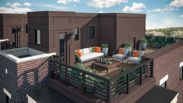 Rooftop terraces in ideal Myers Park location