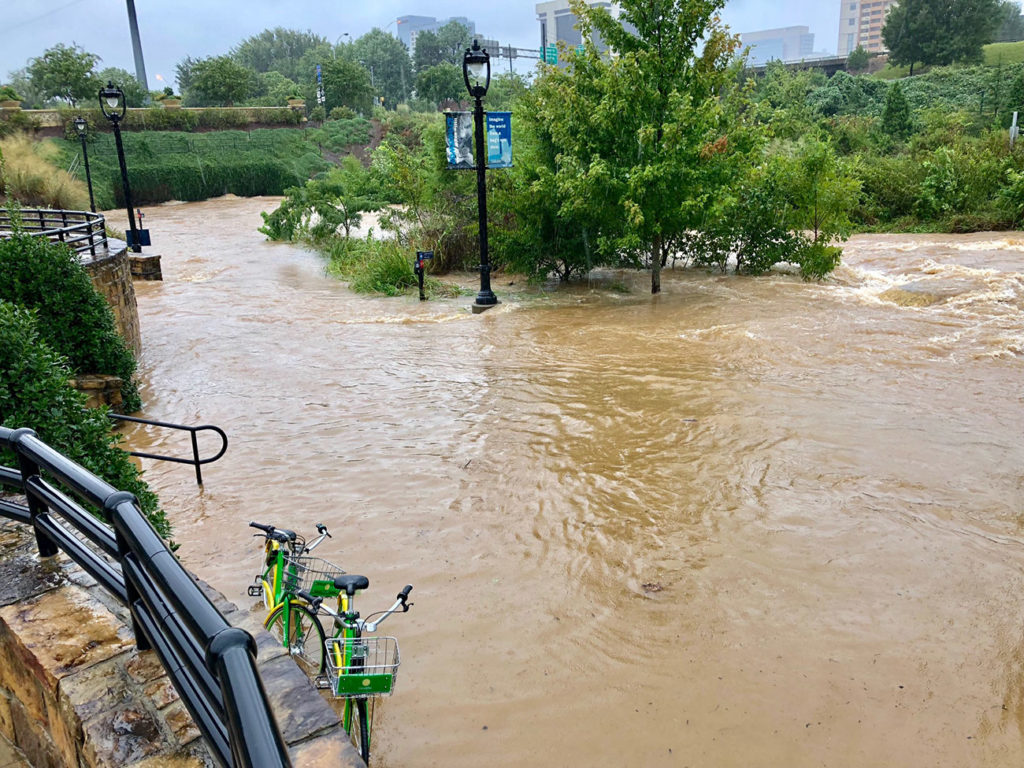 Current status of Hurricane Florence's impact on Charlotte