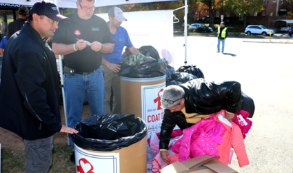Charlotte Coat Drive Drop-Off Party