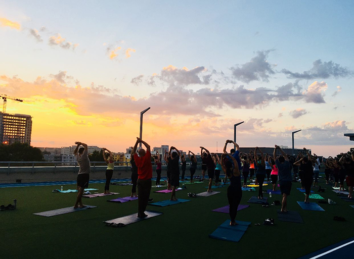 Dowd YMCA roof yoga