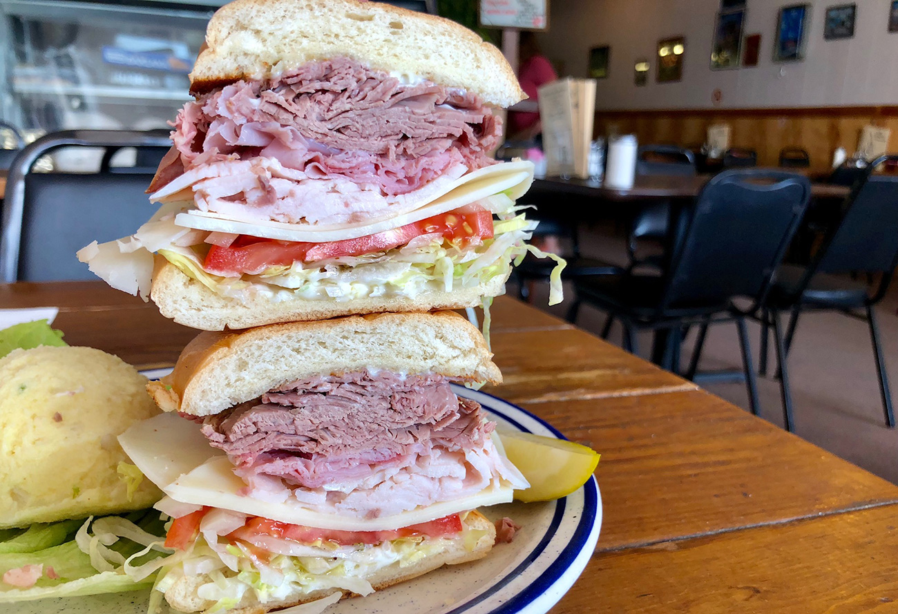 After 36 years, Chris still making delicious sandwiches behind the counter at Chris' Deli