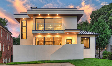 Modern luxury home overlooking Freedom Park