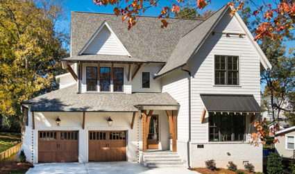 New construction with modern farmhouse design