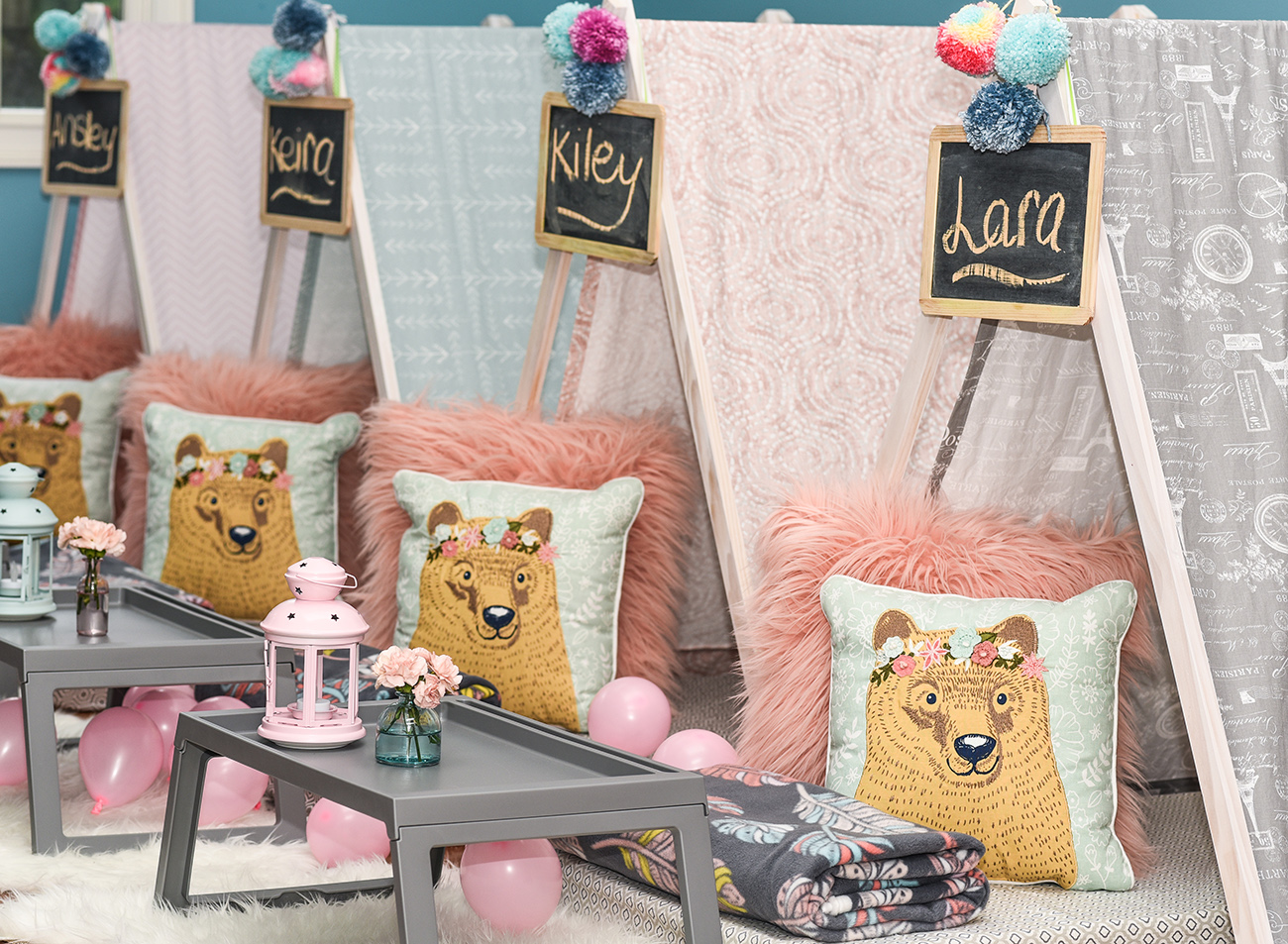 This Charlotte party service sets up an Instagrammable campground in your living room for kids' slumber parties starting at $150