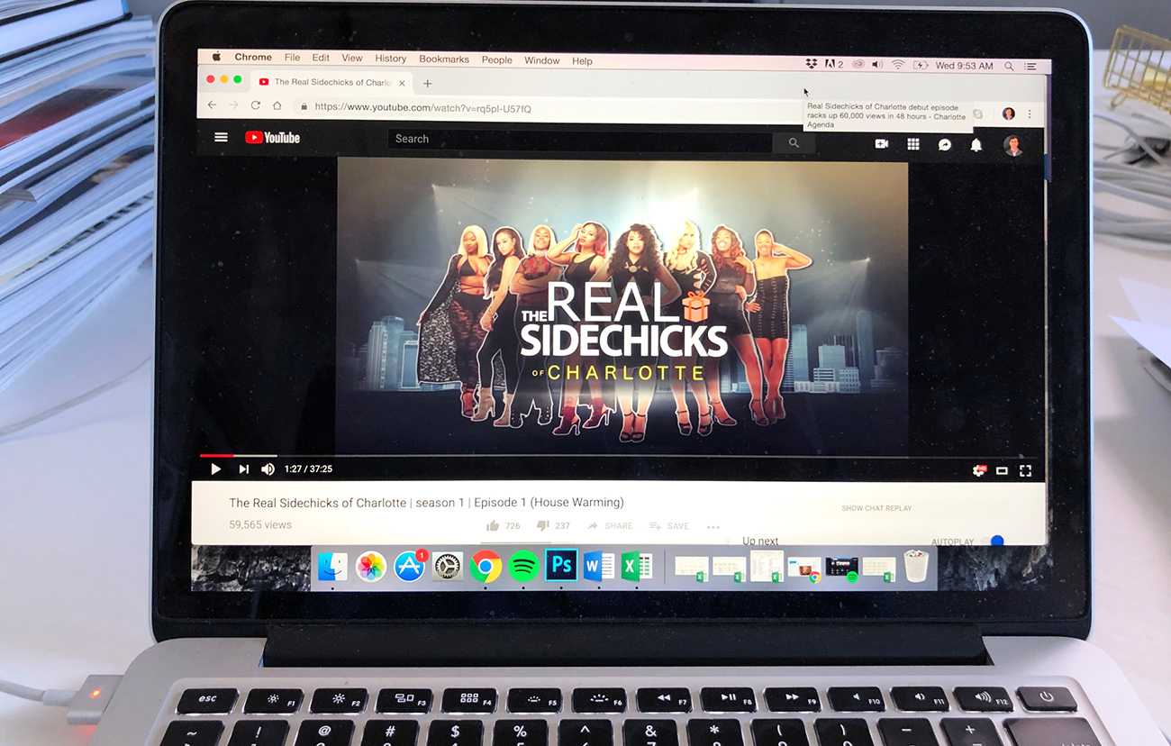 Real Sidechicks of Charlotte debut episode racks up 60,000 views in 48 hours
