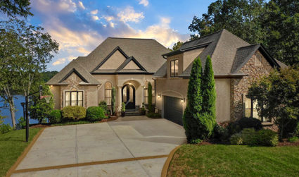 Peaceful Lake Norman waterfront mansion