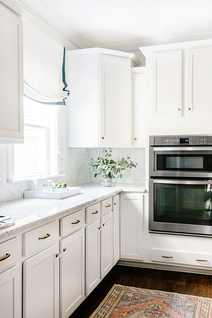 Waco Street kitchen, marble