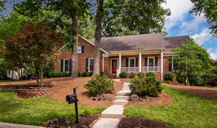 Brick ranch on a large corner lot