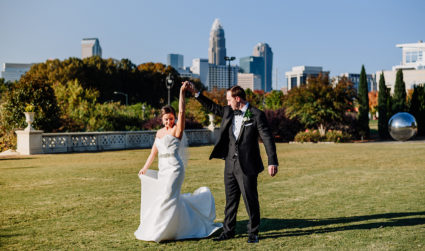 Couple bucks tradition with Charlotte-themed wedding weekend featuring events at OMB, Vivace, Amelie's and more