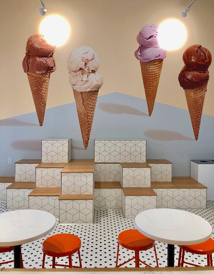 ice cream mural at jeni's in noda