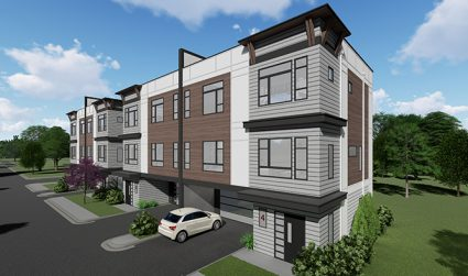 Exclusive city center townhome community