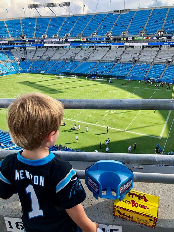 child-at-panthers-game-bank-of-america-stadium