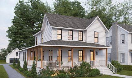 New modern farmhouse with upscale charm