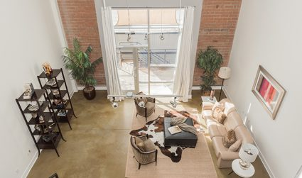 Loft living with gorgeous natural light