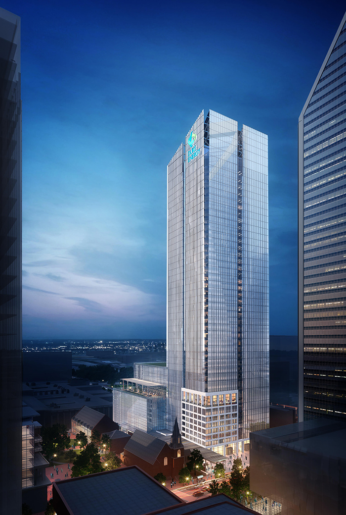 View Rendering 40 Story Tower Going Into Uptown Across