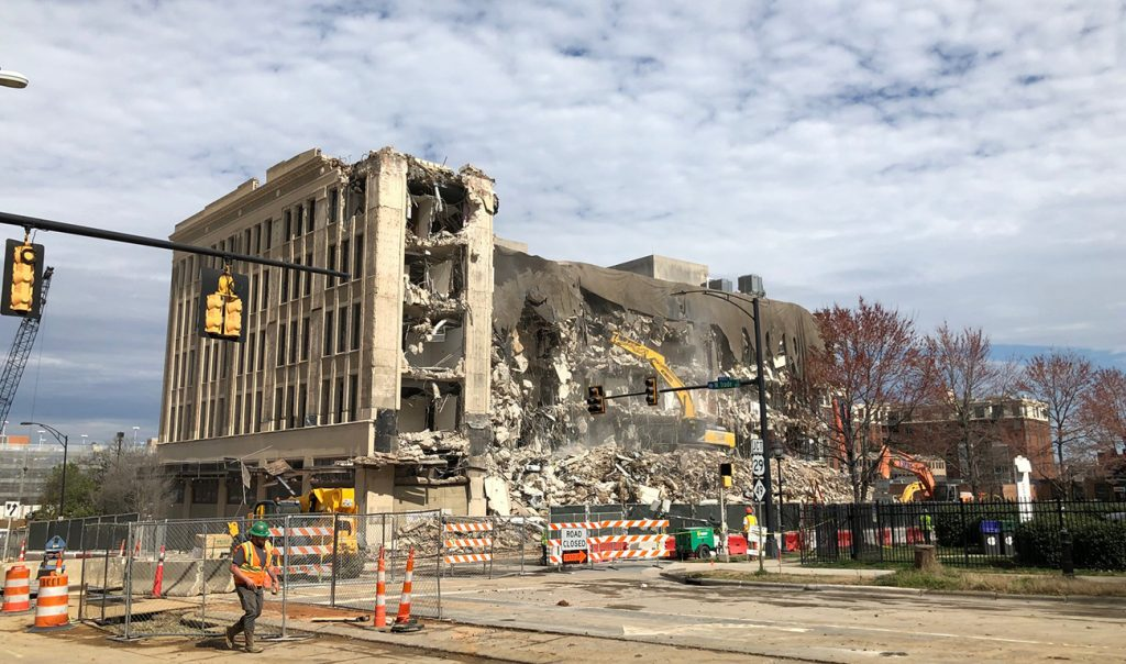Uptown's Polk Building demolished to make way for apartment tower with rooftop pool
