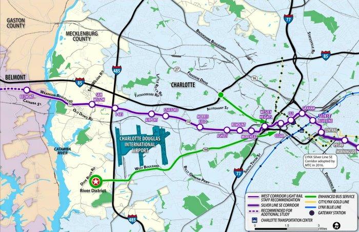 Charlotte Lynx Map on