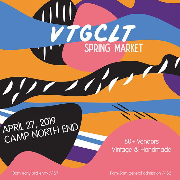 Vintage Charlotte Spring Market 2019 flyer