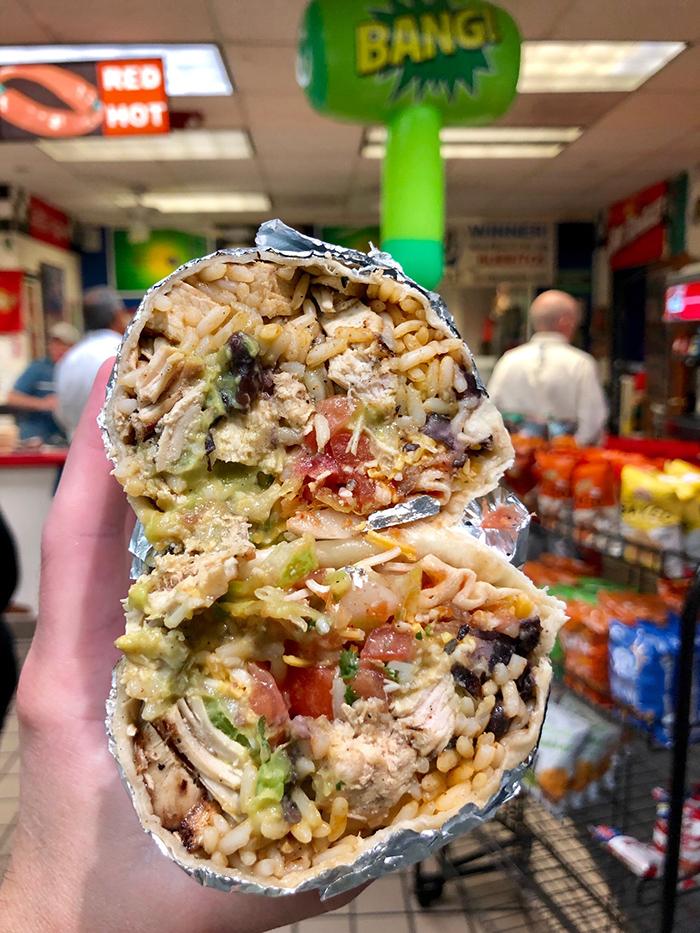 big burrito from johnny burrito in charlotte