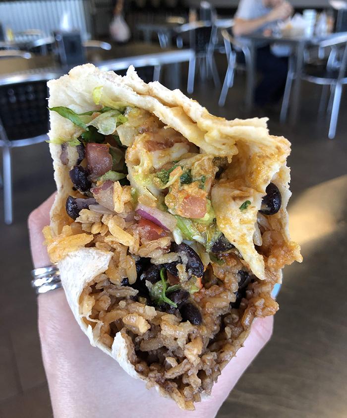 burrito at burrito factory charlotte