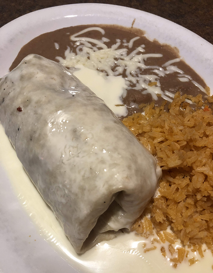 burrito from three amigos charlotte