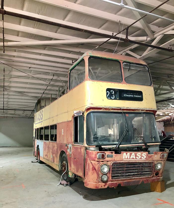 bus inside coliseum v in charlotte