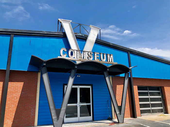 location of coliseum v action bar in charlotte