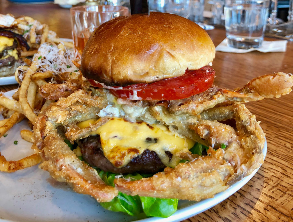 Strong burger sales lead The Crunkleton to launch two massive new burgers — one with crab on top