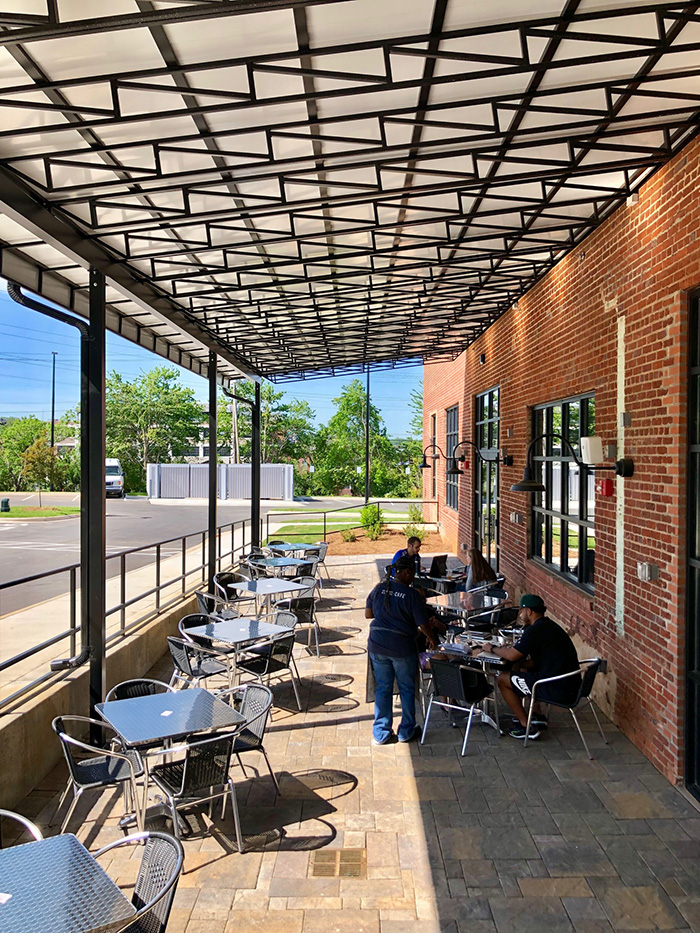patio at community matters cafe