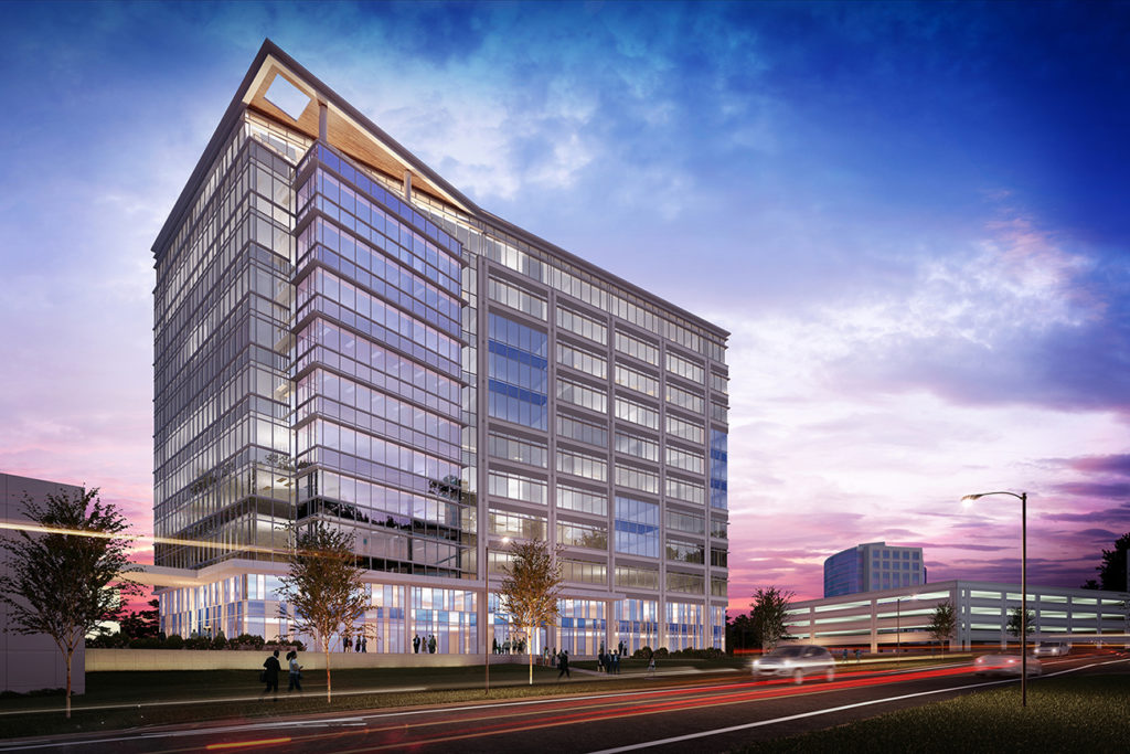 View rendering: 11-story mixed-use project underway in Ballantyne — plans call for luxury apartment tower