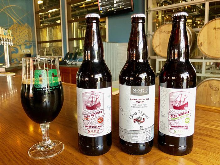 bottles at noda brewing taproom
